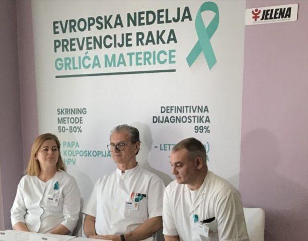 """Evropska nedjelja prevencije raka grlića materice u bolnici """"Jelena"""""""