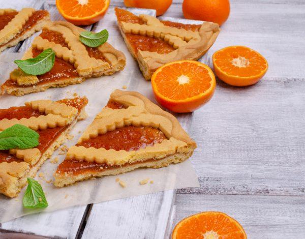 Prhki tart od narandže i čokolade