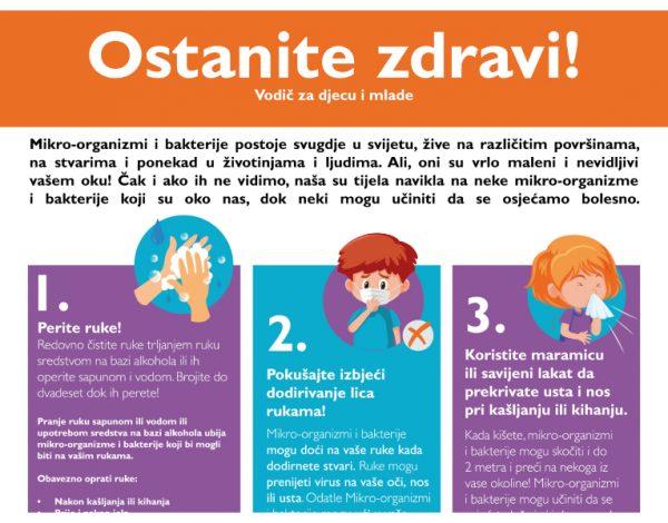 Vodič za djecu i mlade: Ostanite zdravi!