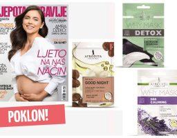 """Uz svaki primjerak novog broja """"Ljepote&Zdravlja"""" dobijate poklon: Kozmetika Afrodita Why maske za vas!"""