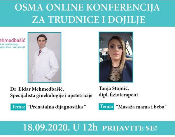 Dr Eldar Mehmedbašić na 8. Online konferenciji za trudnice govori o prenatalnoj dijagnostici