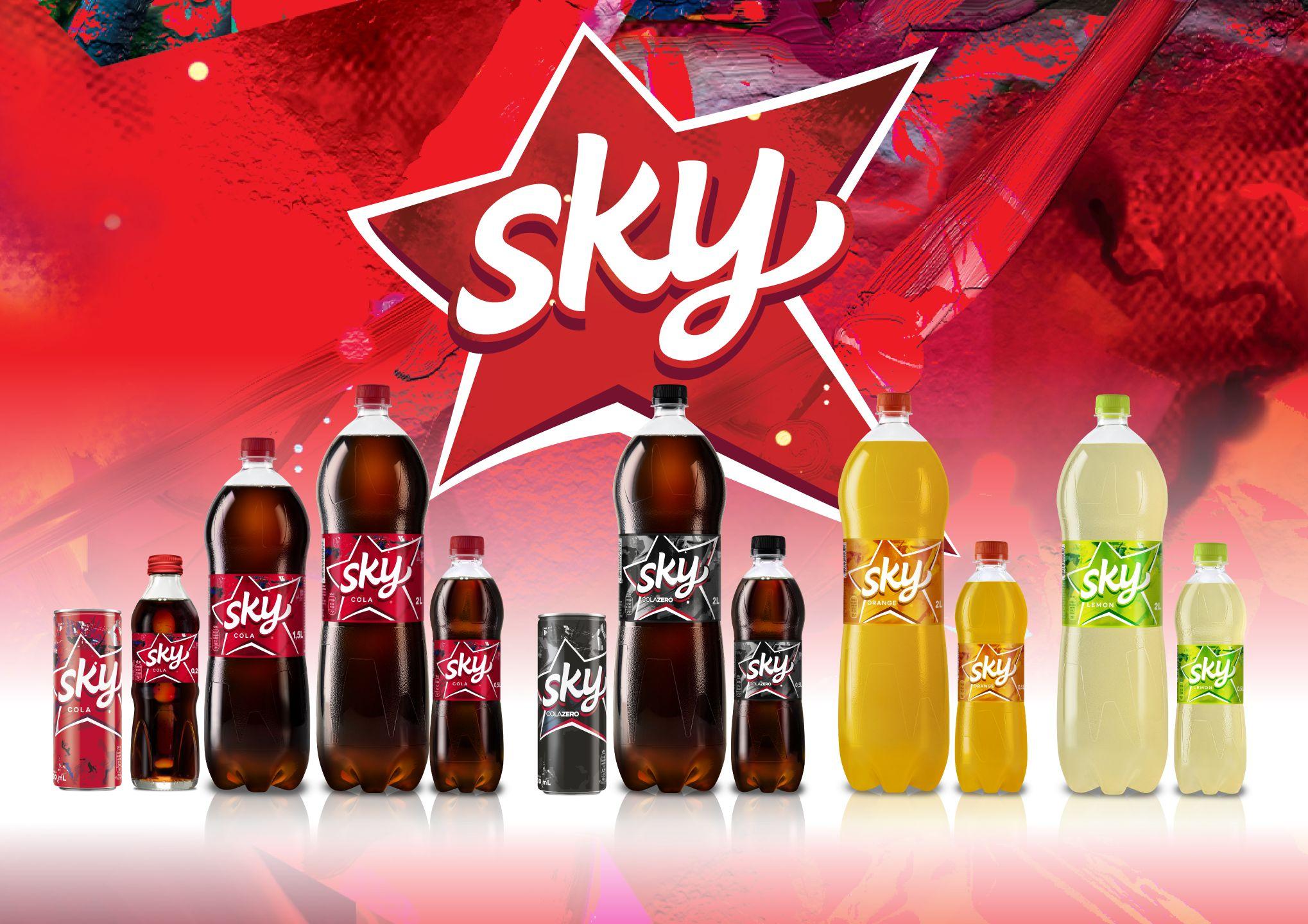 Novi dizajn limenke Sky pića